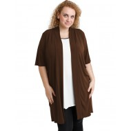 A20-142 Classic long cardigan - Brown