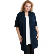 A20-142 Classic long cardigan - Navy Blue