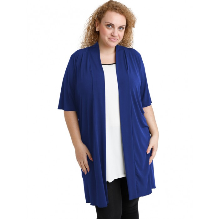 A20-142 Classic long cardigan - Royal Blue
