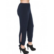 A20-151 Fitted capri pants - Navy Blue