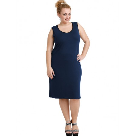 A20-201V Classic dress top - Navy Blue