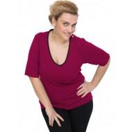 A20-208V Classic blouse - Fuchsia