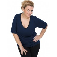A20-208V Classic blouse - Navy Blue