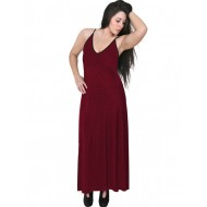 A20-223FB Long dress top - Bordeaux