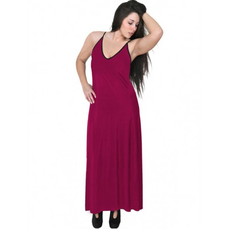 A20-223FB Long dress top - Fuchsia