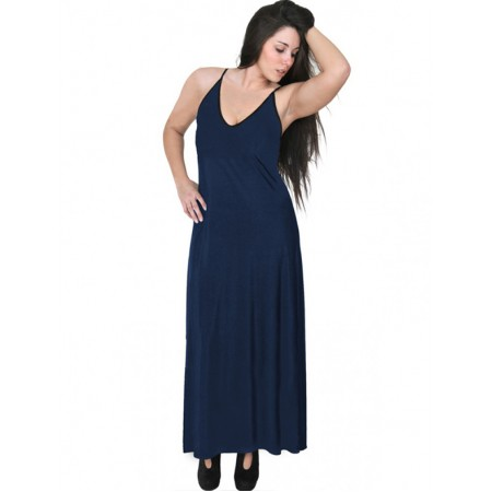 A20-223FB Long dress top - Navy Blue