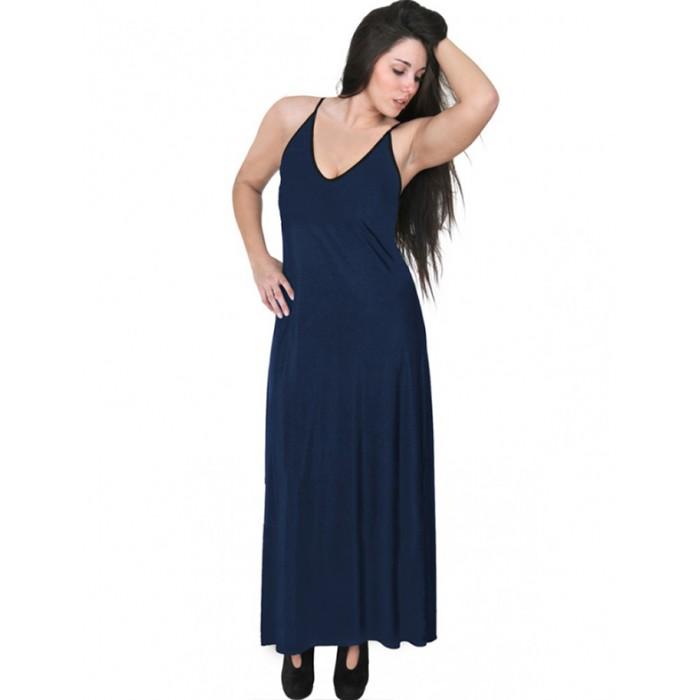 A20-223FB Long dress top - Navy Blue