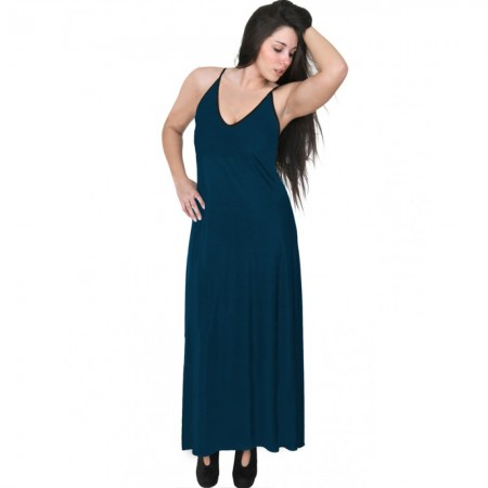 A20-223FB Long dress top - Petrol