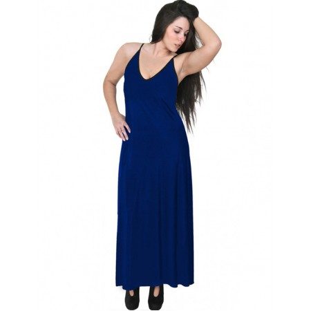 A20-223FB Long dress top - Royal Blue