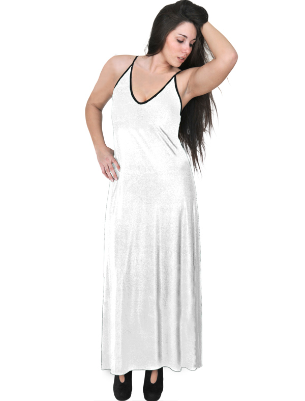 A20-223FB Long dress top - White