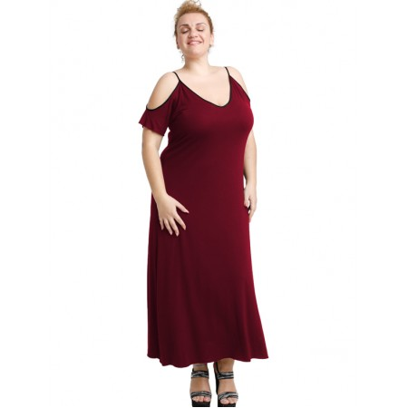 A20-223F Long dress - Bordeaux