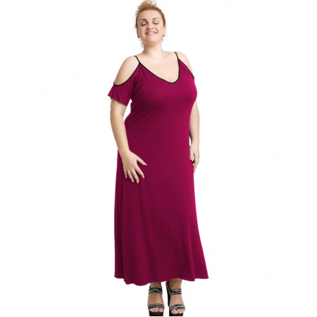 A20-223F Long dress - Fuchsia