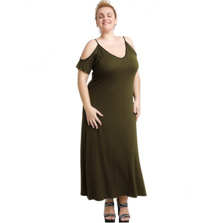 A20-223F Long dress - Khaki