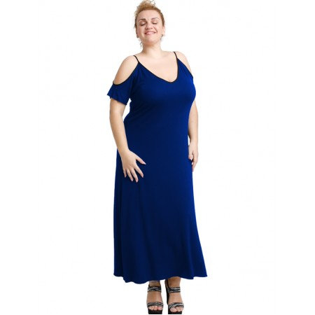 A20-223F Long dress - Royal Blue