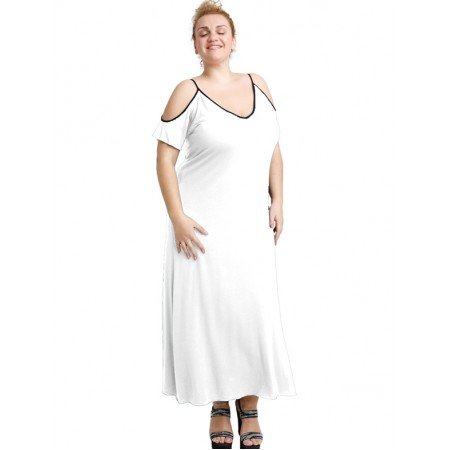 A20-223F Long dress - White