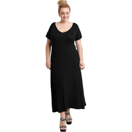 A20-223FK Long dress - Black