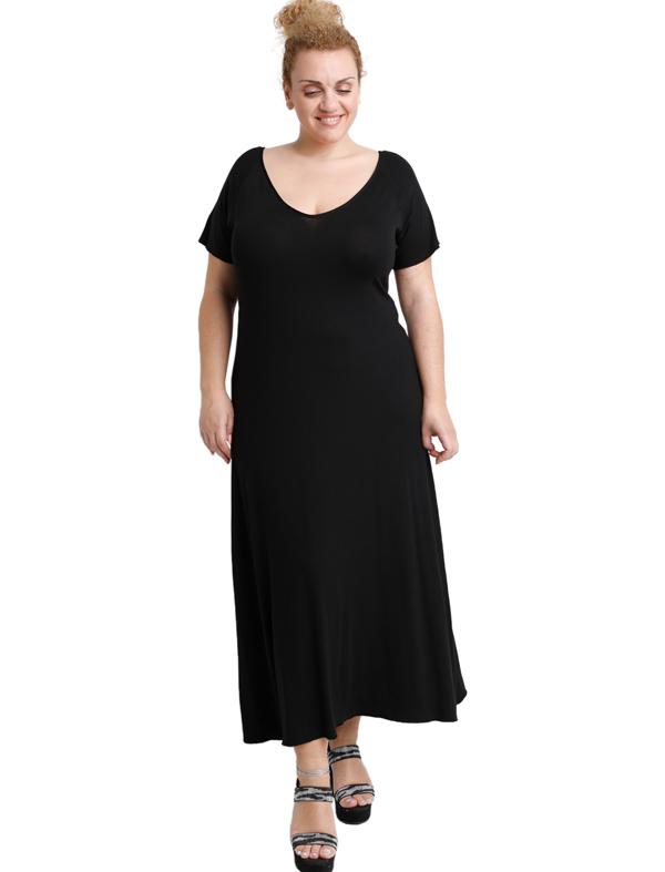 A20-223FK Long dress - Black