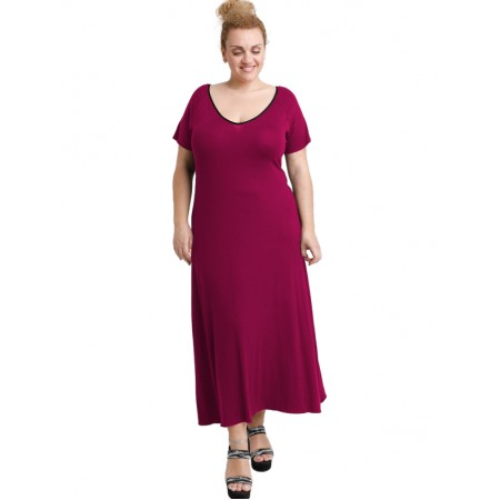A20-223FK Long dress - Fuchsia