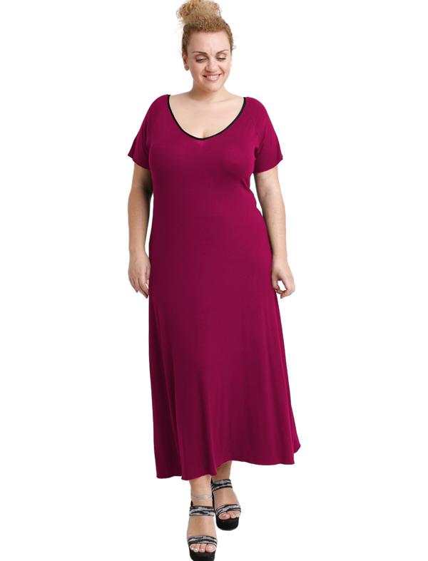 A20-223FK Long dress - Fuchsia
