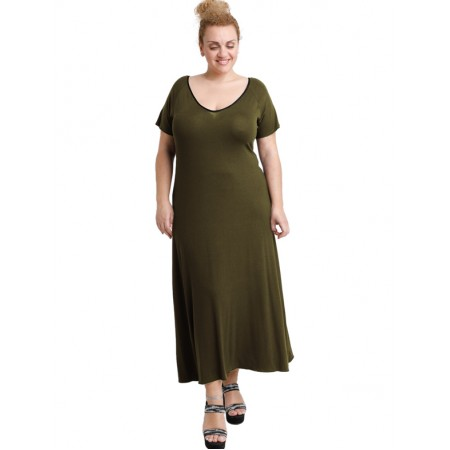 A20-223FK Long dress - Khaki