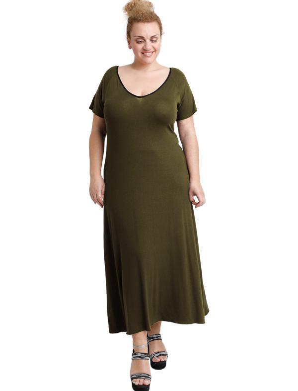 A20-223FK Long dress - Khaki