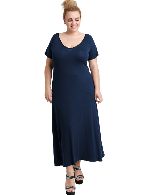 A20-223FK Long dress - Navy Blue