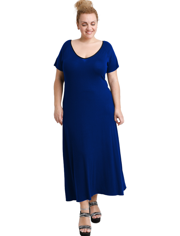 A20-223FK Long dress - Royal Blue