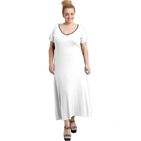 A20-223FK Long dress - White