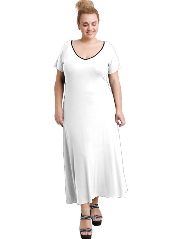 A20-223FK Long dress - White