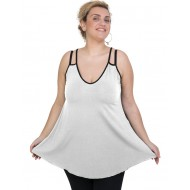 A20-227R Alpha blouse top - White