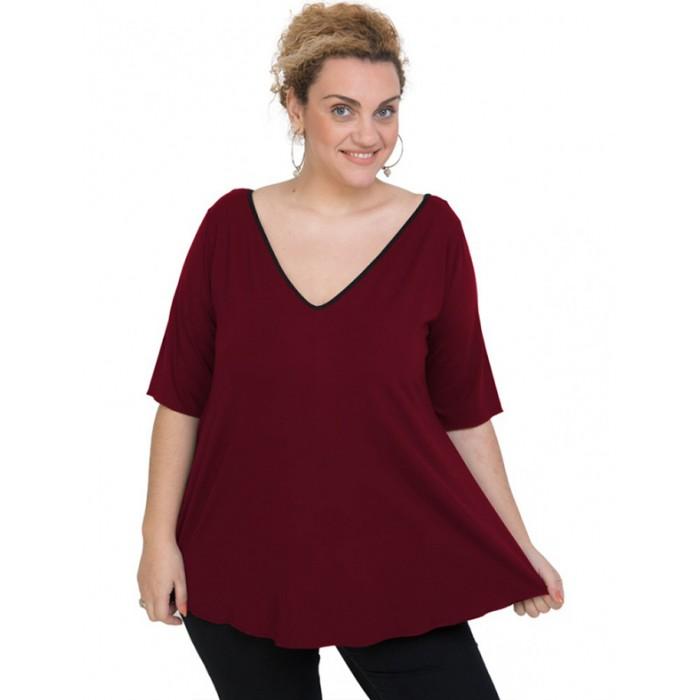 A20-227V Alpha blouse - Bordeaux