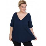 A20-227V Alpha blouse - Navy Blue