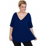 A20-227V Alpha blouse - Royal Blue