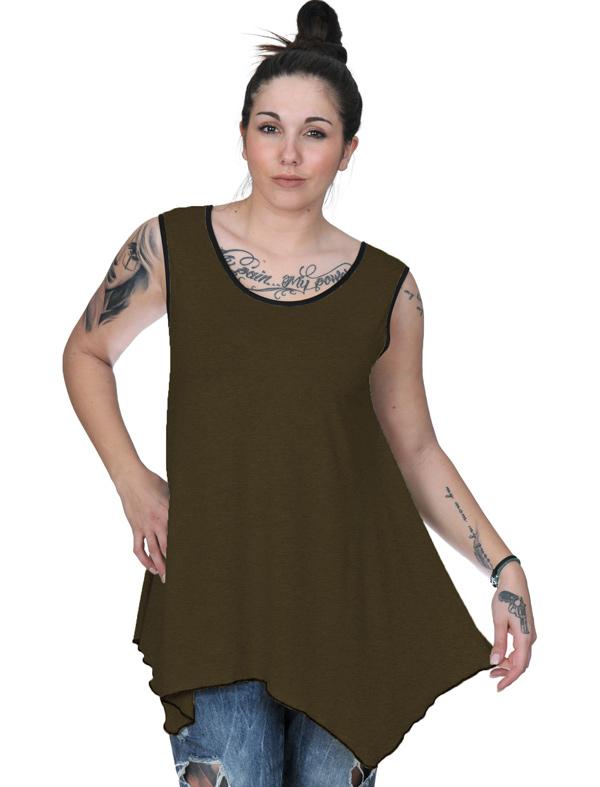 A20-228B Alpha blouse top - Khaki Dark