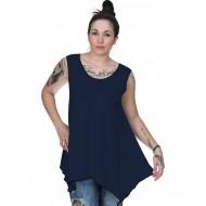 A20-228B Alpha blouse top - Navy Blue