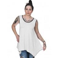 A20-228B Alpha blouse top - White