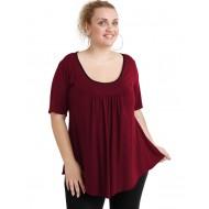 A20-244 Evaze blouse - Bordeaux