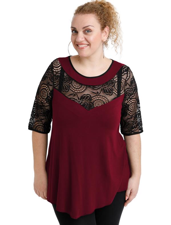 A20-247D Alfa blouse - Bordeaux