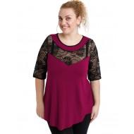 A20-247D Alfa blouse - Fuchsia