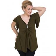 A20-255 Alpha blouse - Khaki Dark