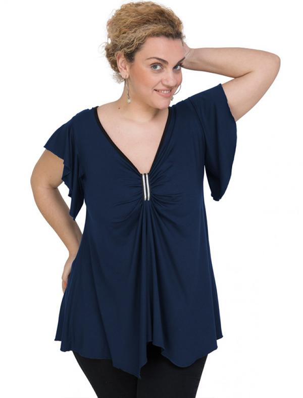 A20-255 Alpha blouse - Navy Blue