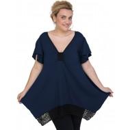 A20-255D Alpha blouse - Navy Blue