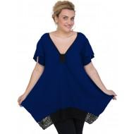 A20-255D Alpha blouse - Royal Blue