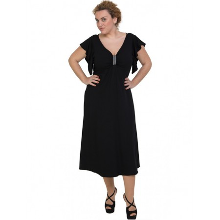 A20-255F Long dress - Black