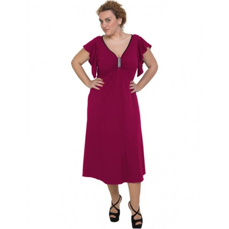 A20-255F Long dress - Fuchsia