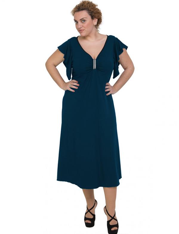 A20-255F Long dress - Petrol