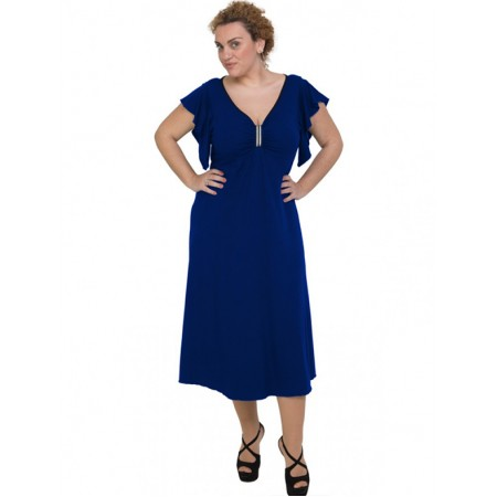 A20-255F Long dress - Royal Blue