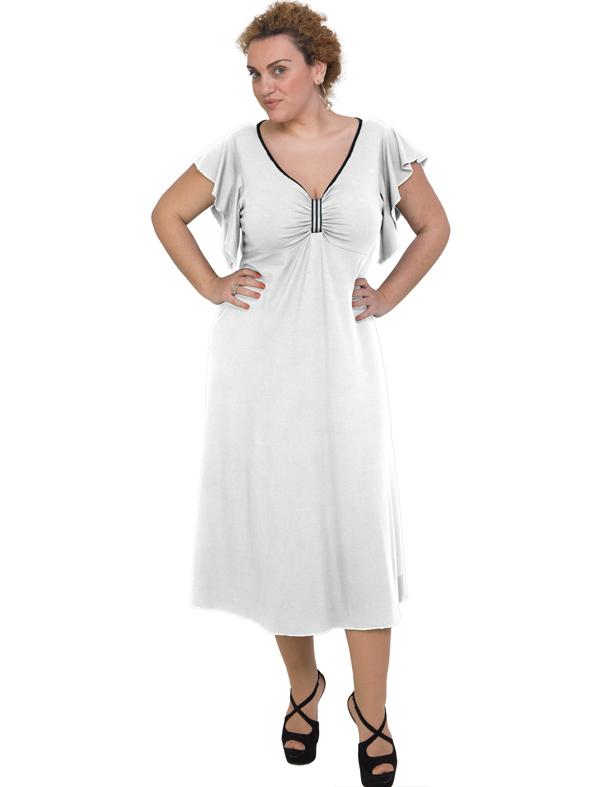 A20-255F Long dress - White