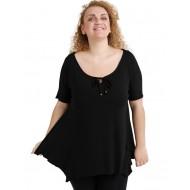 A20-256 Raglan alpha blouse - Black