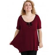 A20-256 Raglan alpha blouse - Bordeaux
